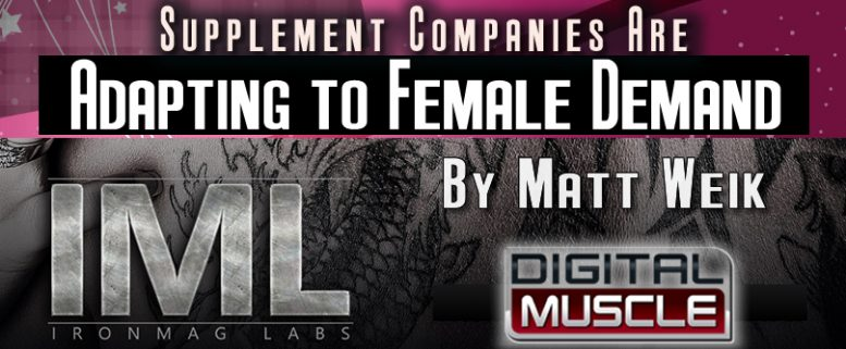 supplement companies are adapting to female demand