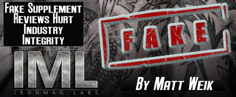beware of fake supplement reviews