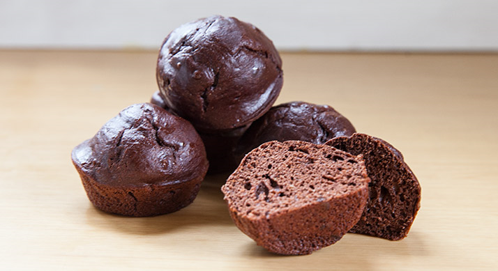 Chocolate Peanut Butter Protein Cupcakes
